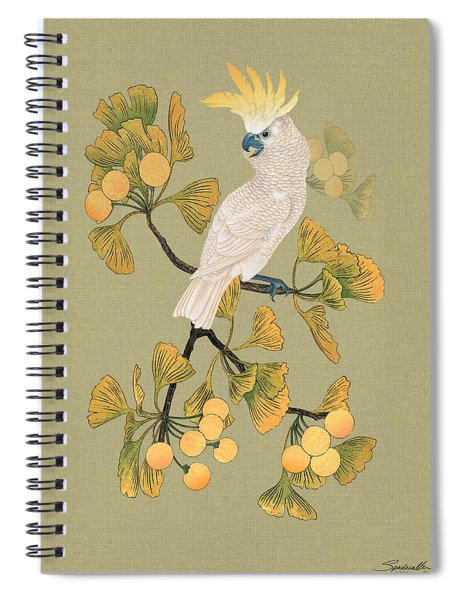 Cockatoo And Ginkgo Tree Spiral Notebook