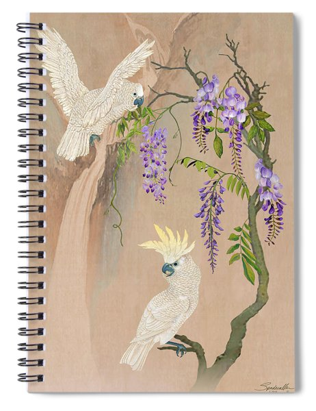 Cockatoos And Wisteria Spiral Notebook