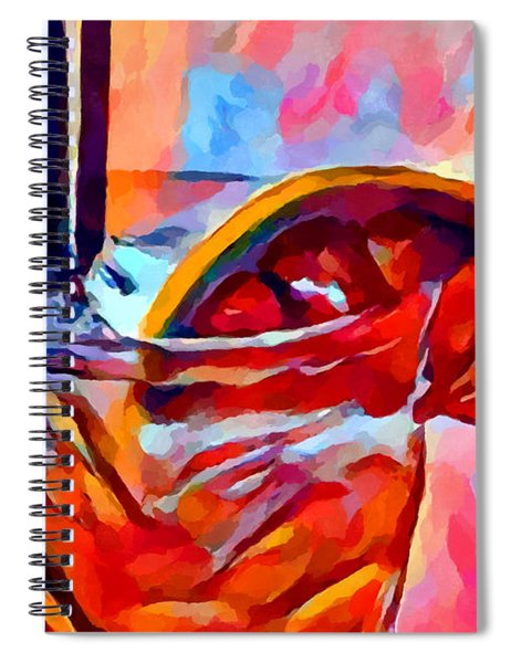 Cocktail 2 Watercolor Spiral Notebook