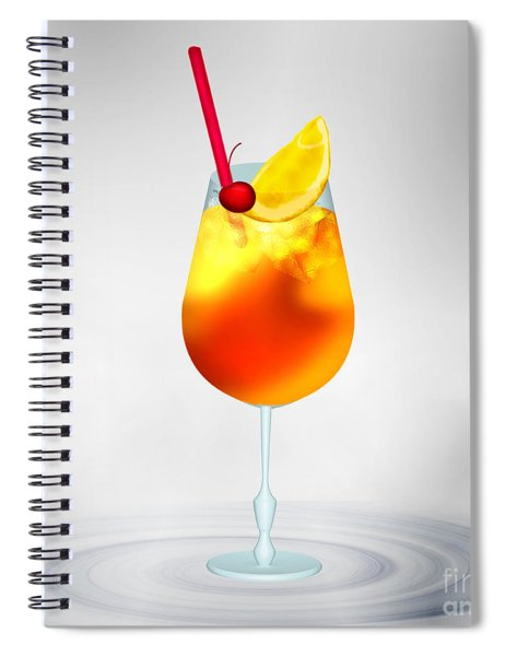 Cocktail Lime Cherry Spiral Notebook