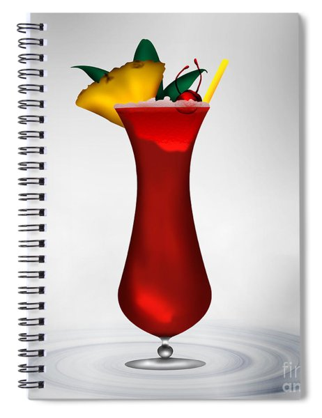 Cocktail Red Surprise Spiral Notebook