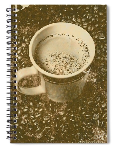 Coffee And Nostalgia Spiral Notebook
