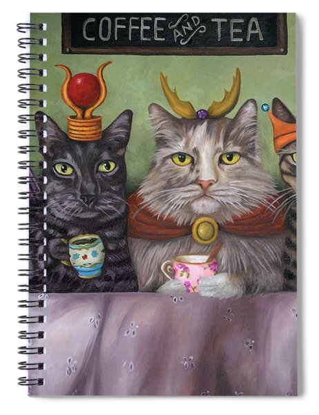Coffee And Tea Spiral Notebook