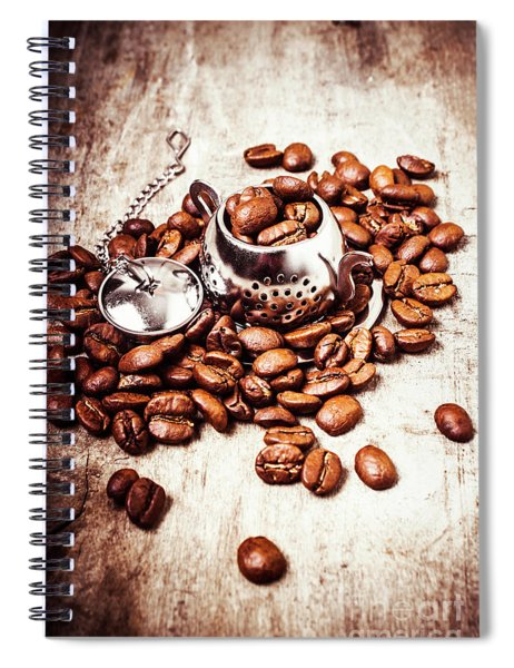 Coffee Break At The Tea House Spiral Notebook