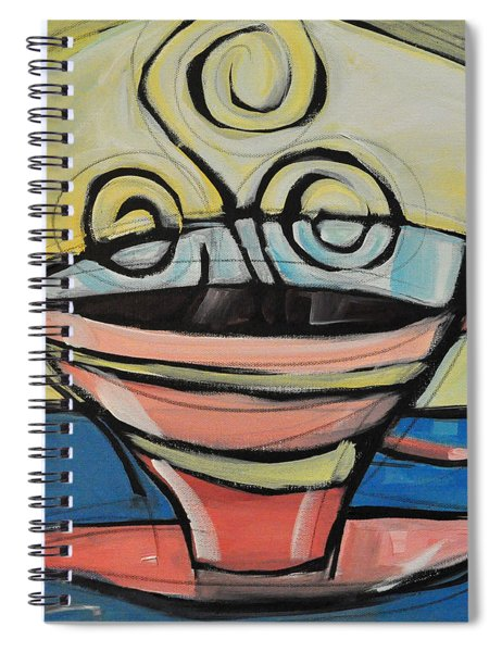 Coffee Cup Four Spiral Notebook