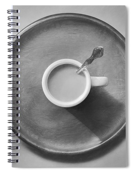Coffee On A Wooden Tray Spiral Notebook