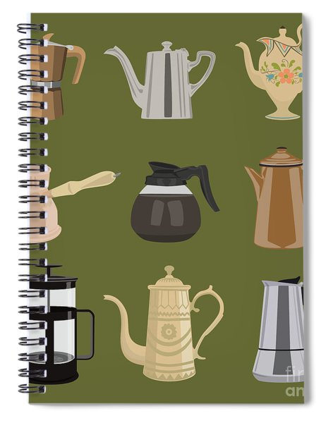 Coffee Pots Spiral Notebook