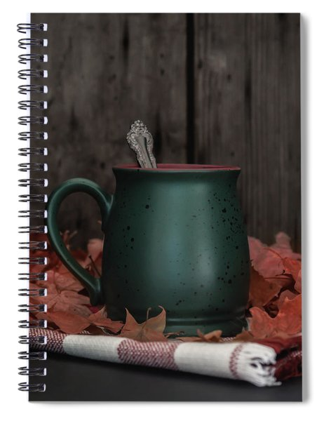 Coffee, Tea And Autumn Spiral Notebook