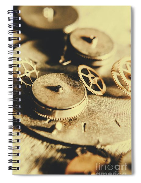 Cog And Gear Workings Spiral Notebook