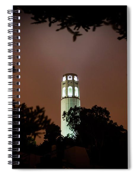 Coit Tower Through The Trees Spiral Notebook