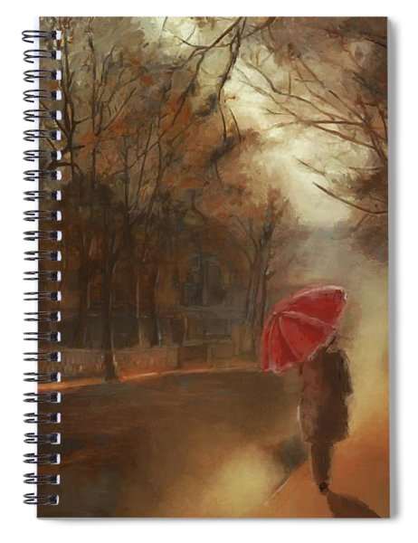 Cold Autumn Morning Painting Spiral Notebook