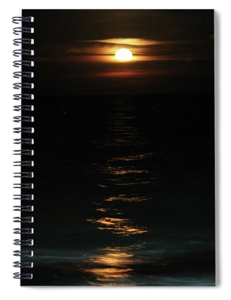 Cold Moon Rising 2017 Spiral Notebook