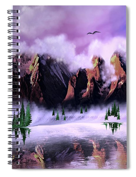 Cold Mountain Morning Spiral Notebook