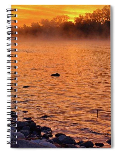 Cold November Morning Spiral Notebook