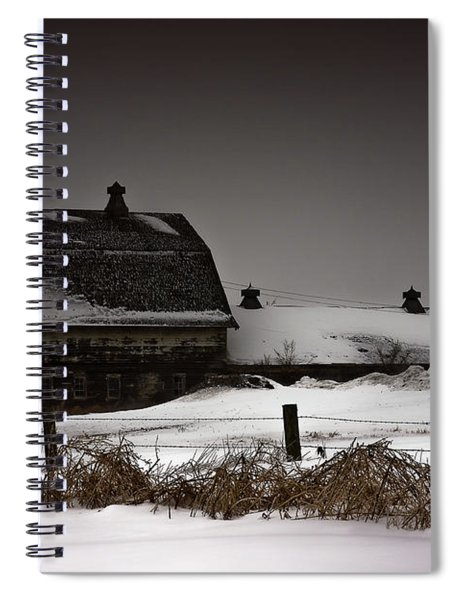 Spiral Notebook featuring the photograph Cold Winter Night by Edward Peterson