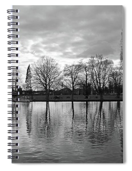 Cold Winters Day On The Thames At Teddington London Spiral Notebook