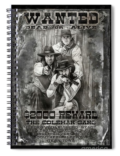 Coleman Gang Wanted Poster Spiral Notebook