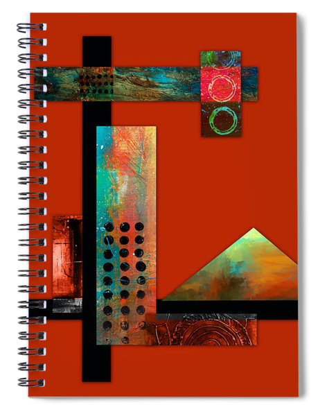 Collage Abstract 1 Spiral Notebook