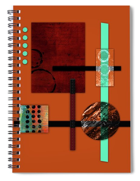 Collage Abstract 10 Spiral Notebook