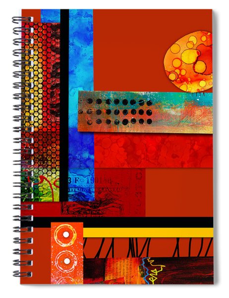 Collage Abstract 2 Spiral Notebook