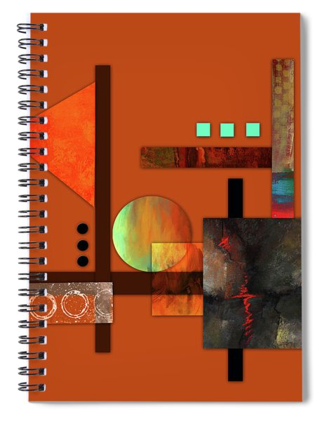 Collage Abstract 9 Spiral Notebook