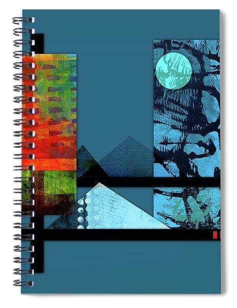 Collage Landscape 1 Spiral Notebook