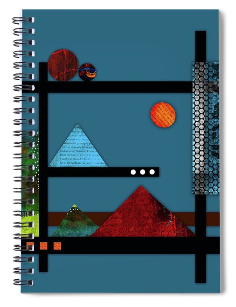 Collage Landscape 2 Spiral Notebook