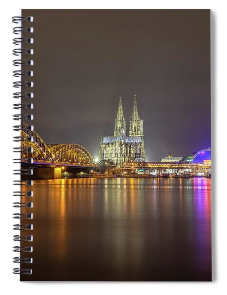 Cologne Cathedral Over The Rhine Spiral Notebook