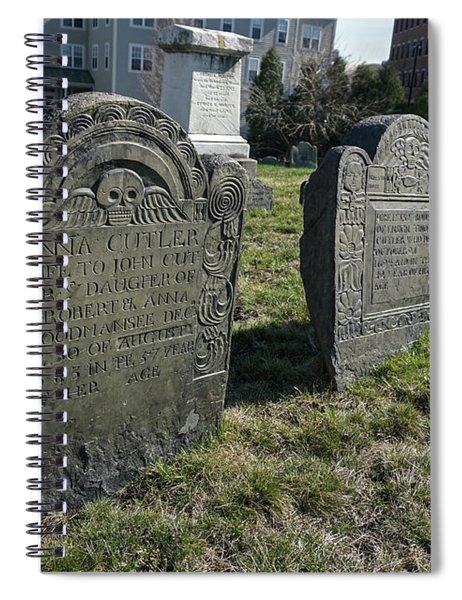 Colonial Graves At Phipps Street Spiral Notebook