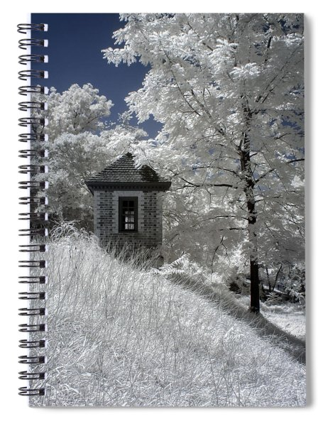 Colonial Williamsburg Shed On A Hill Spiral Notebook