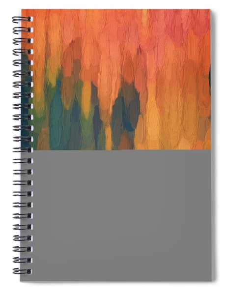 Color Abstraction L Sq Spiral Notebook