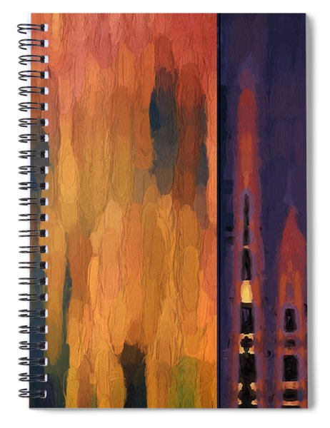 Color Abstraction Liv Spiral Notebook