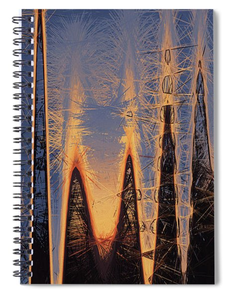Color Abstraction Xl Spiral Notebook