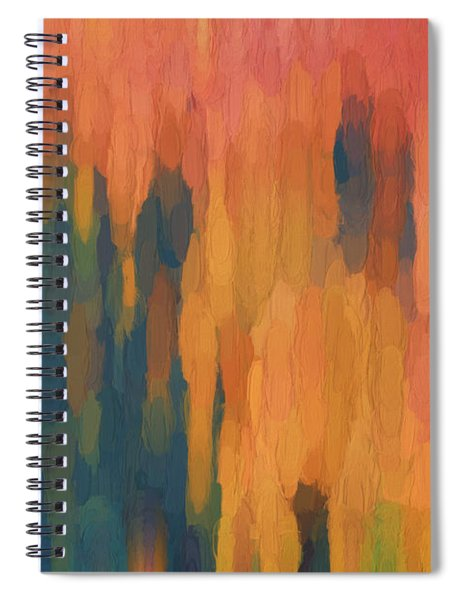 Color Abstraction Xlix Spiral Notebook