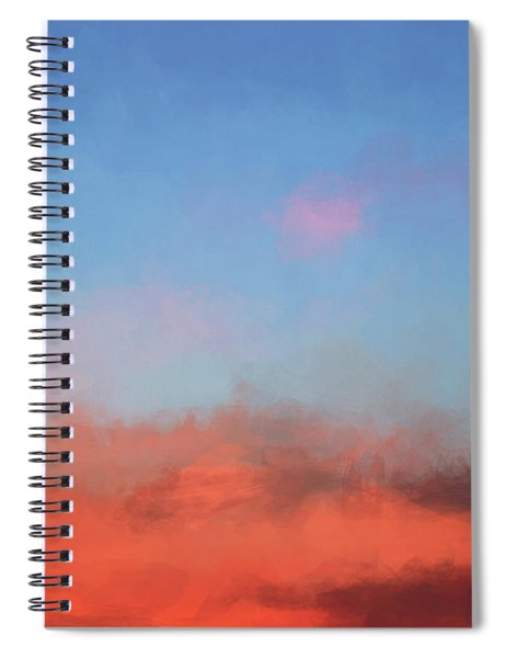 Color Abstraction Xlvii - Sunset Spiral Notebook