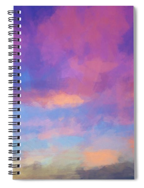 Color Abstraction Xlviii - Sunset Spiral Notebook