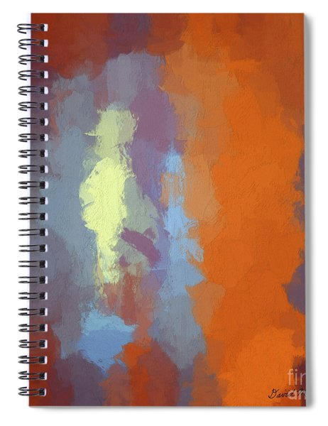 Color Abstraction Xxiii Sq Spiral Notebook