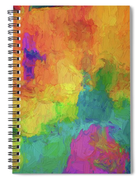 Color Abstraction Xxxiv Spiral Notebook