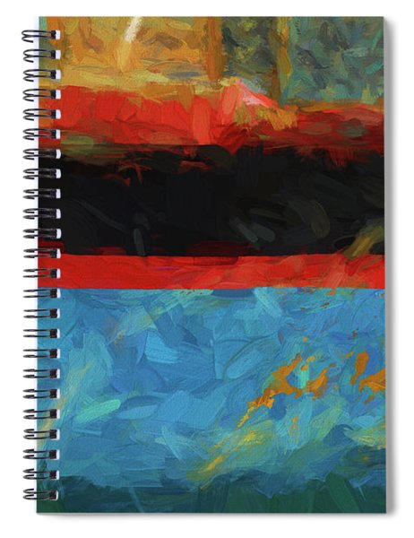 Color Abstraction Xxxix Spiral Notebook