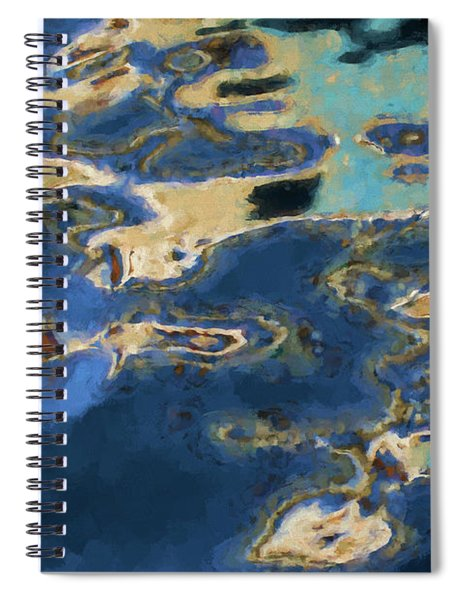 Color Abstraction Xxxvii - Painterly Spiral Notebook