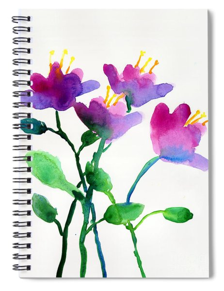 Color Flowers Spiral Notebook
