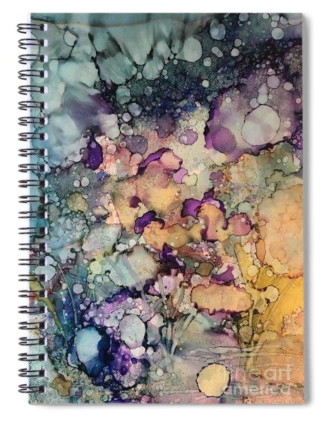 Purple Fire Spiral Notebook