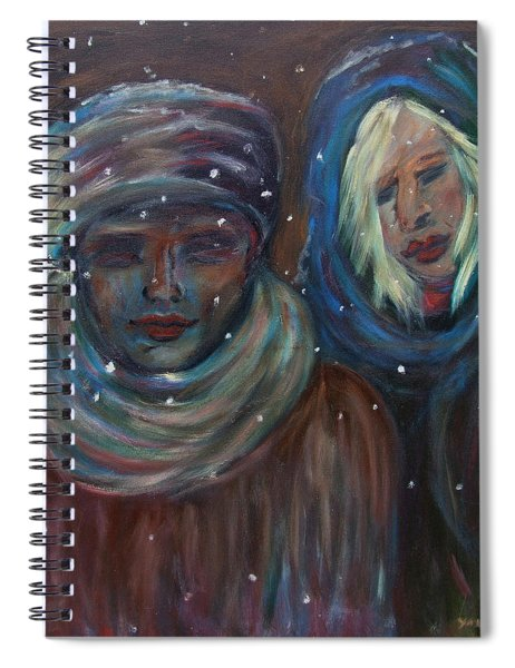 Color Of Winter Spiral Notebook