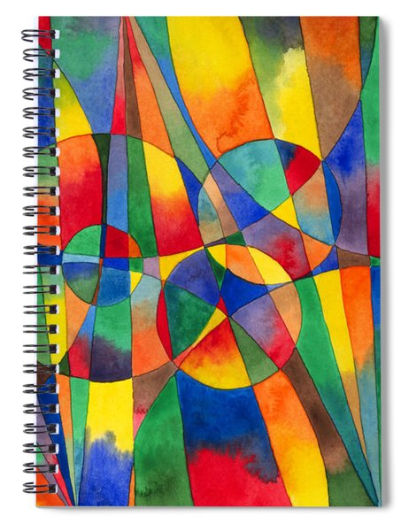 Color Shards Watercolor Spiral Notebook