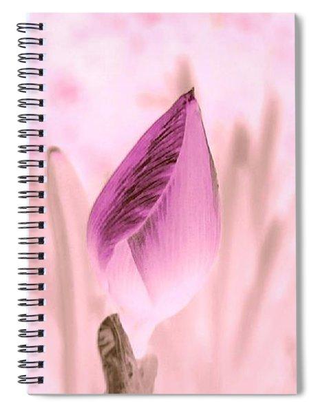 Color Trend Flower Bud Spiral Notebook