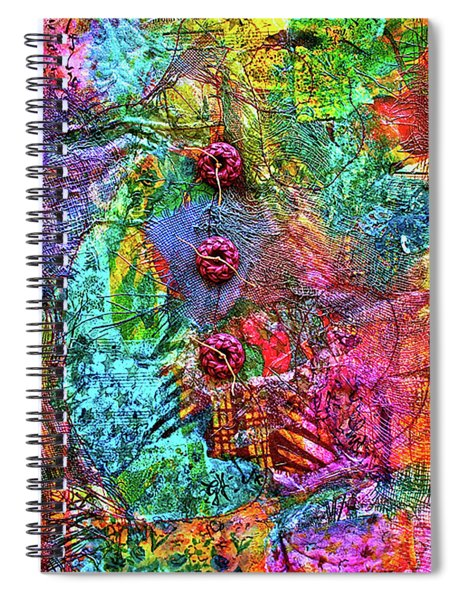Color With Buttons Spiral Notebook