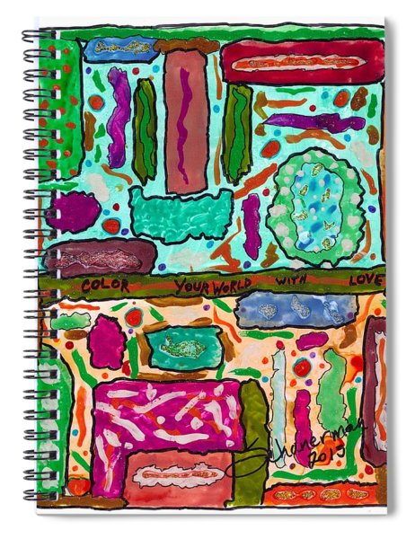 Color Your World With Love Spiral Notebook