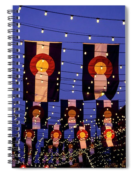 Colorado Flags On Larimer Square Denver Spiral Notebook