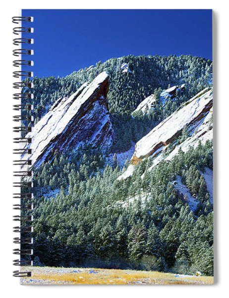 All Five Colorado Flatirons Spiral Notebook