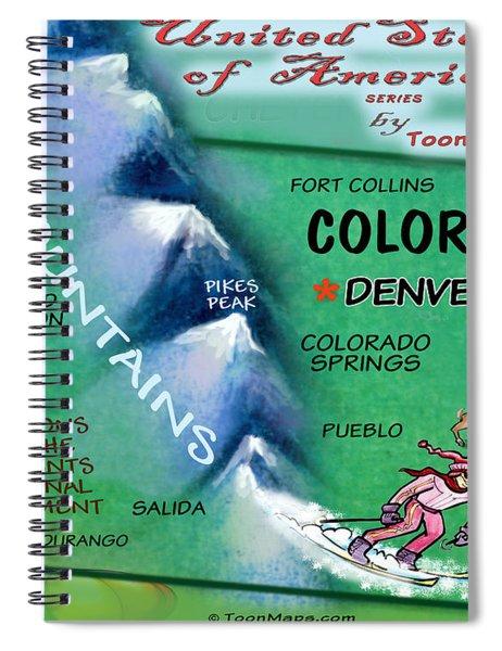 Colorado Fun Map Spiral Notebook